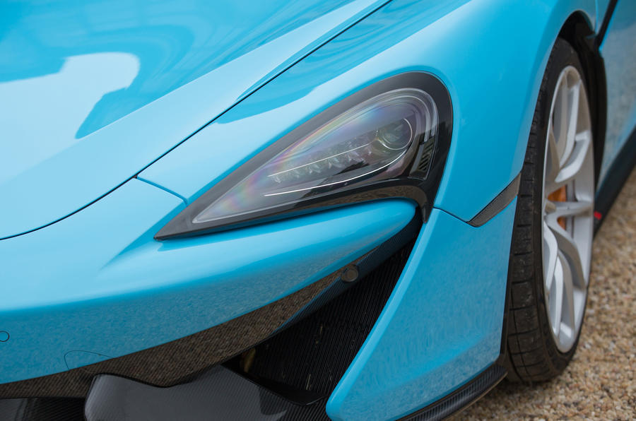 McLaren 570S Spider LED headlights