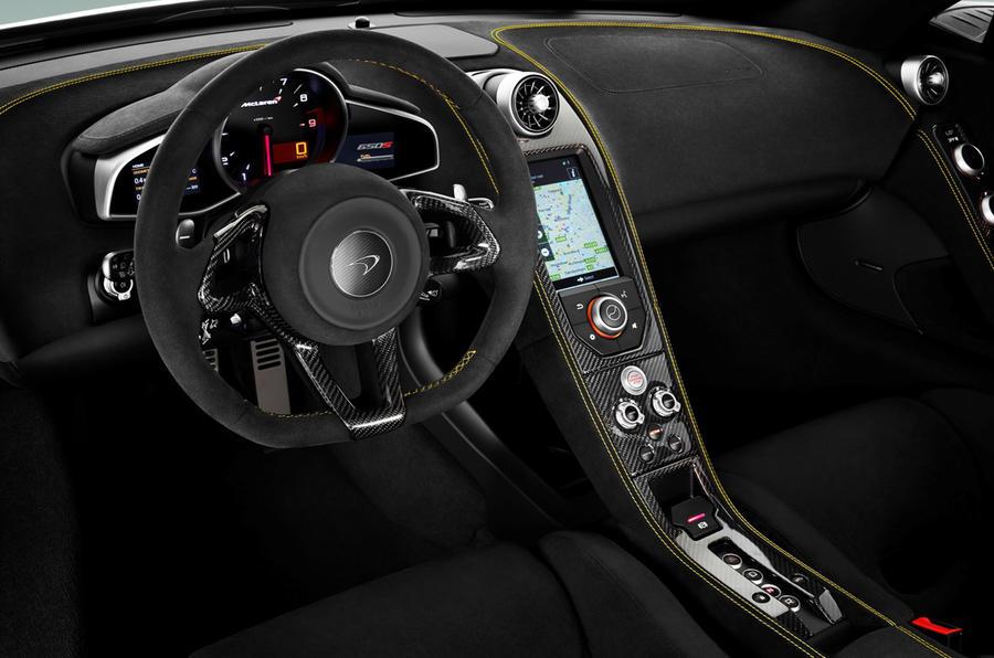 McLaren 650S dashboard
