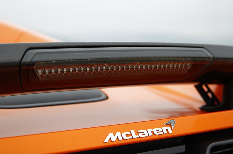 McLaren 650S Spider rear wing