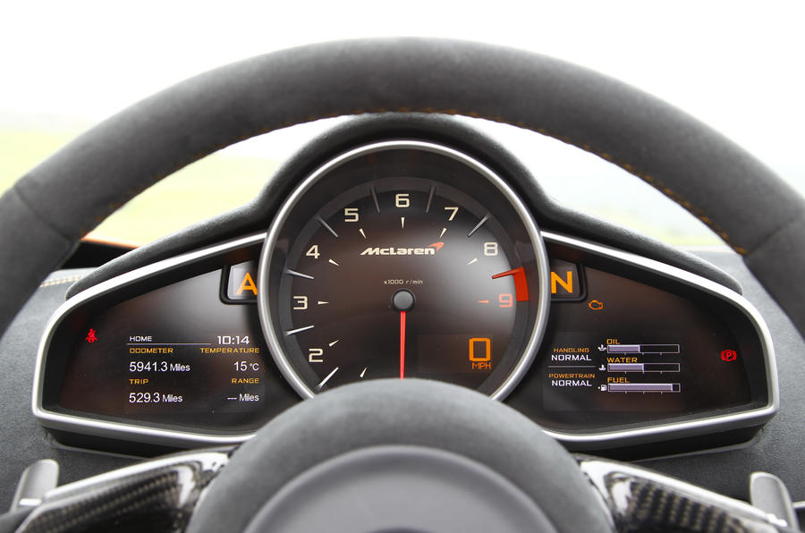 McLaren 650S Spider instrument cluster