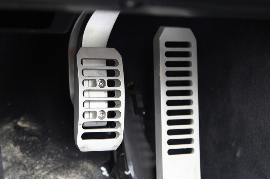 McLaren 650S aluminium pedals