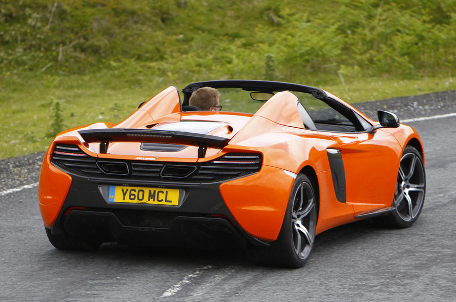 McLaren 650S Spider rear cornering