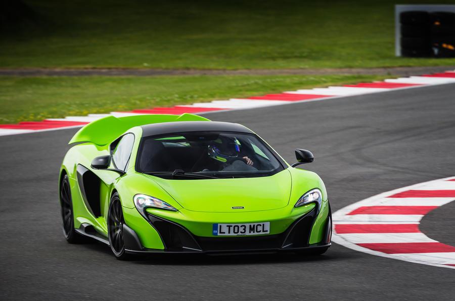 McLaren 675 LT cornering