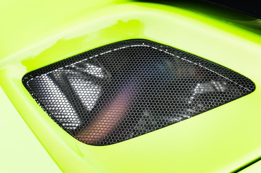 McLaren 675 LT engine vent