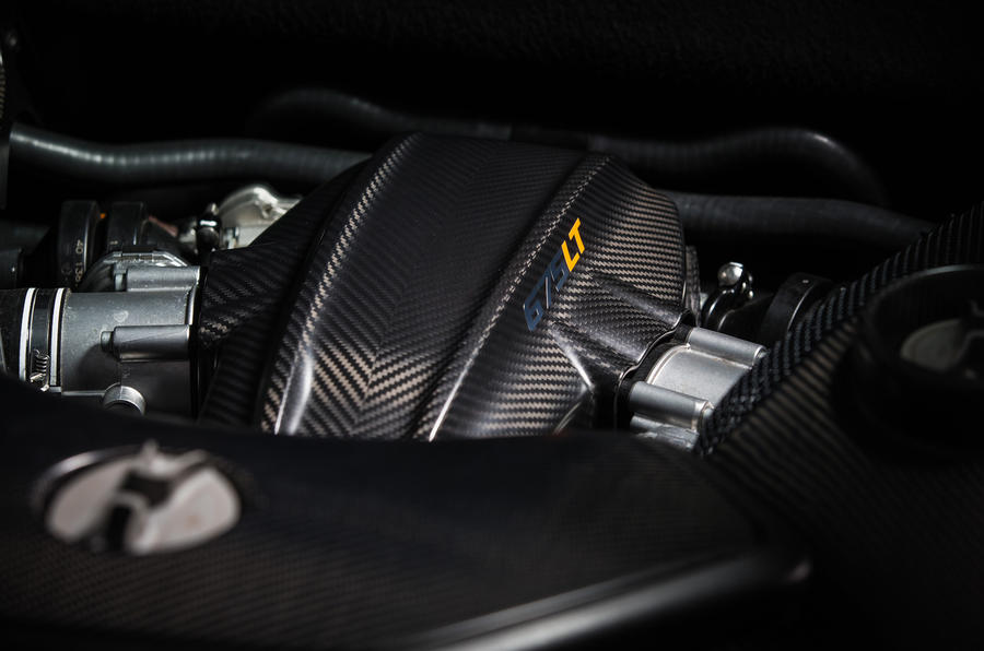 3.8-litre turbocharged McLaren 675 LT engine