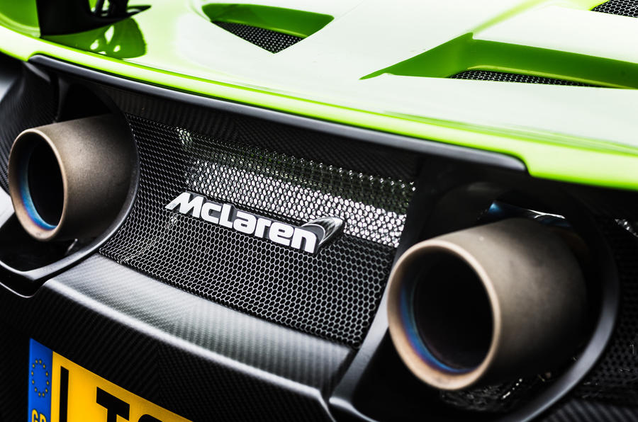 McLaren 675 LT twin exhaust