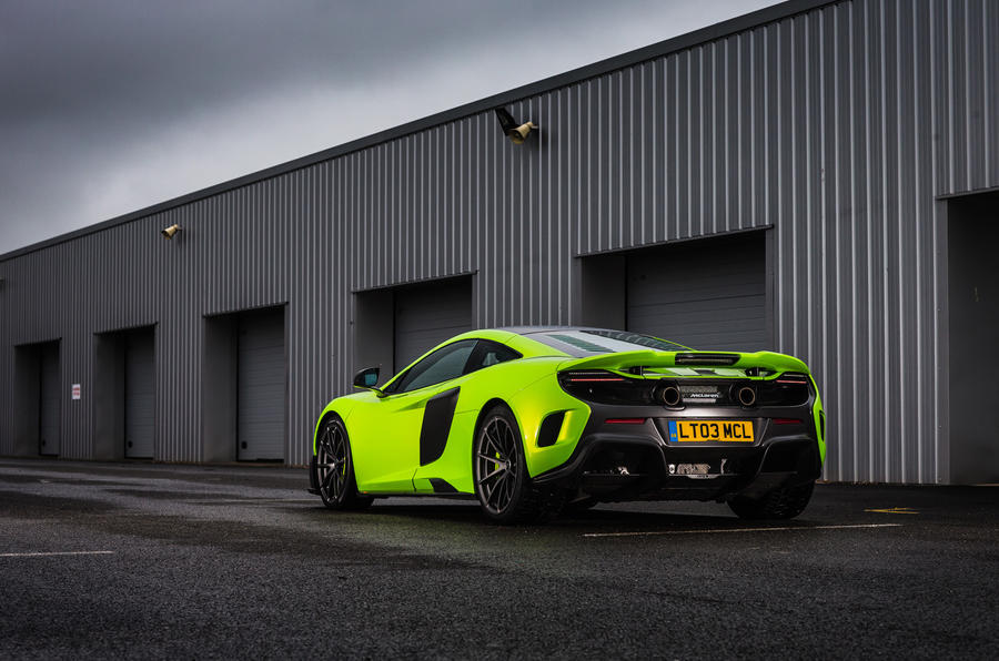 McLaren 675 LT rear quarter