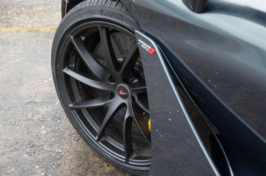 McLaren 720S black alloy wheels