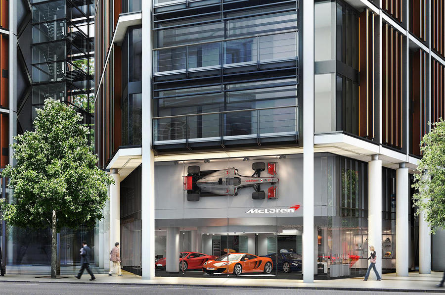 McLaren's new London showroom