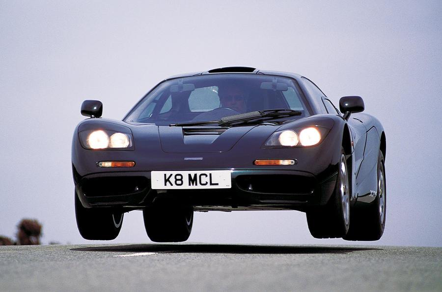 McLaren F1 getting air