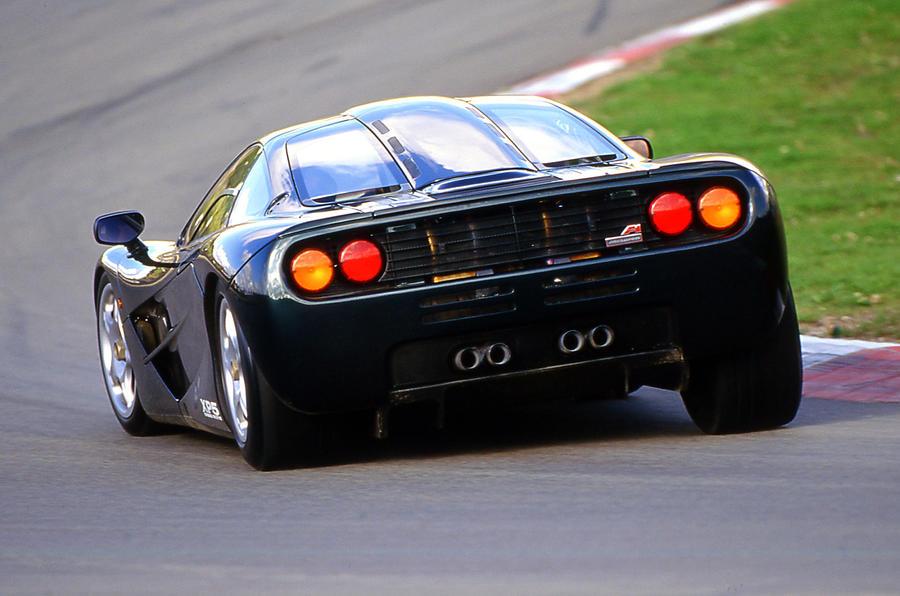 McLaren F1 rear hard cornering