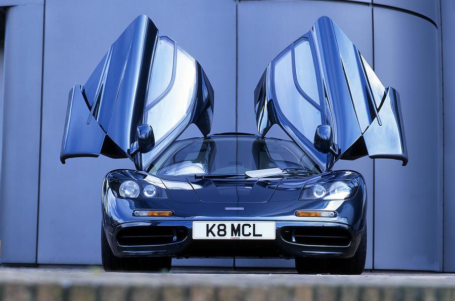 McLaren F1 dihedral doors open