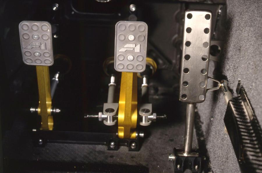McLaren F1 aluminium pedals
