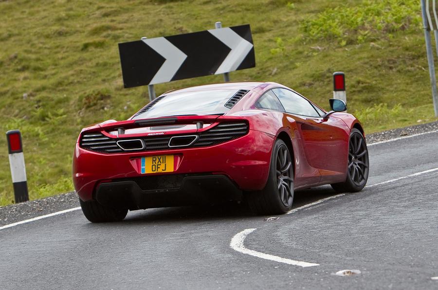 McLaren 12C rear cornering