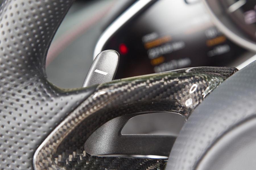 McLaren 12C flappy paddles