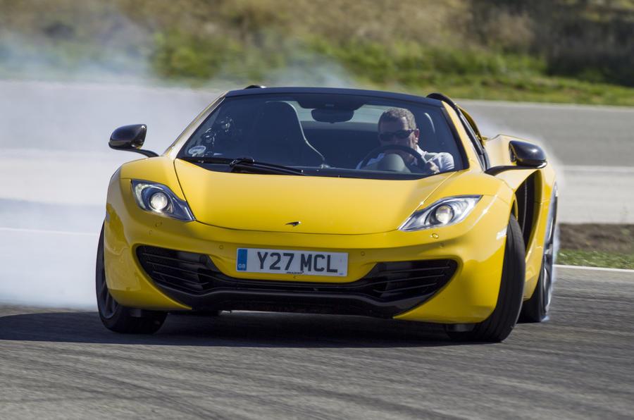 McLaren MP4-12C drifting