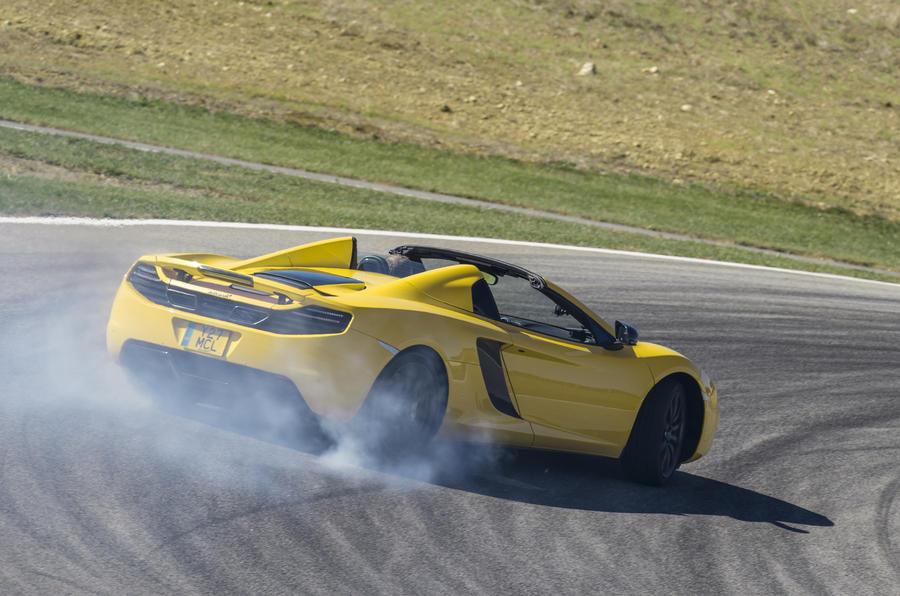 McLaren MP4-12C rear drifting