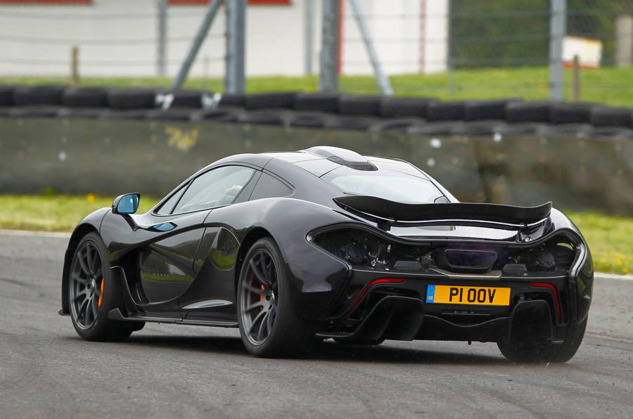 McLaren P1 rear cornering