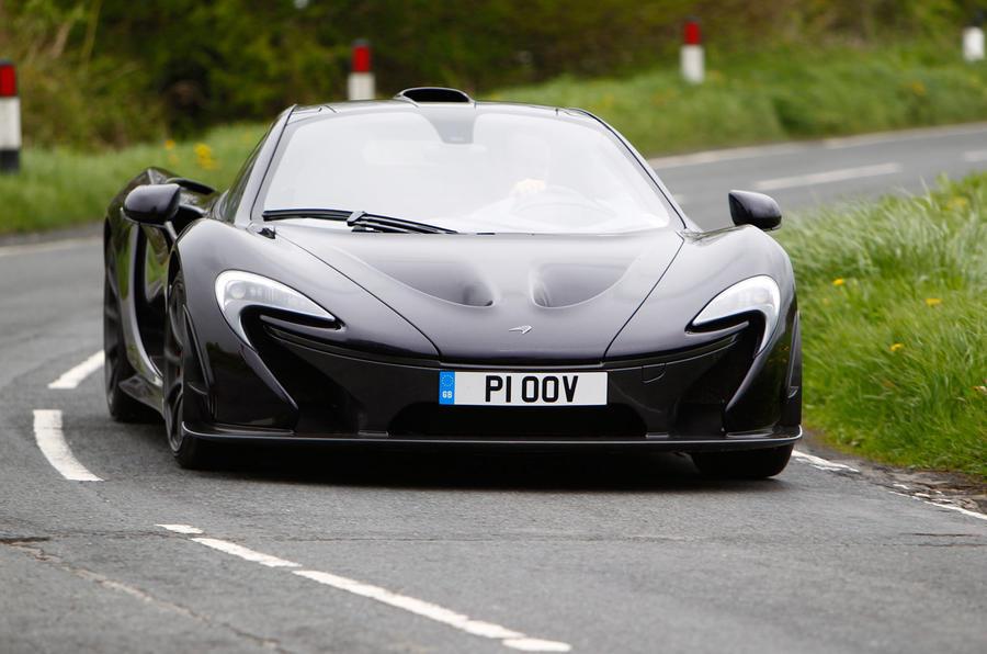 McLaren P1 cornering