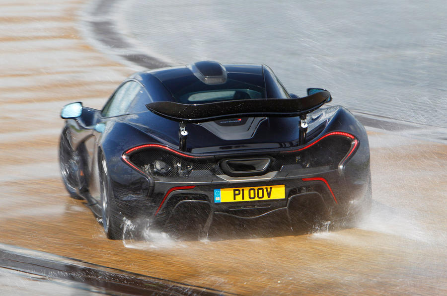McLaren P1 hard rear cornering