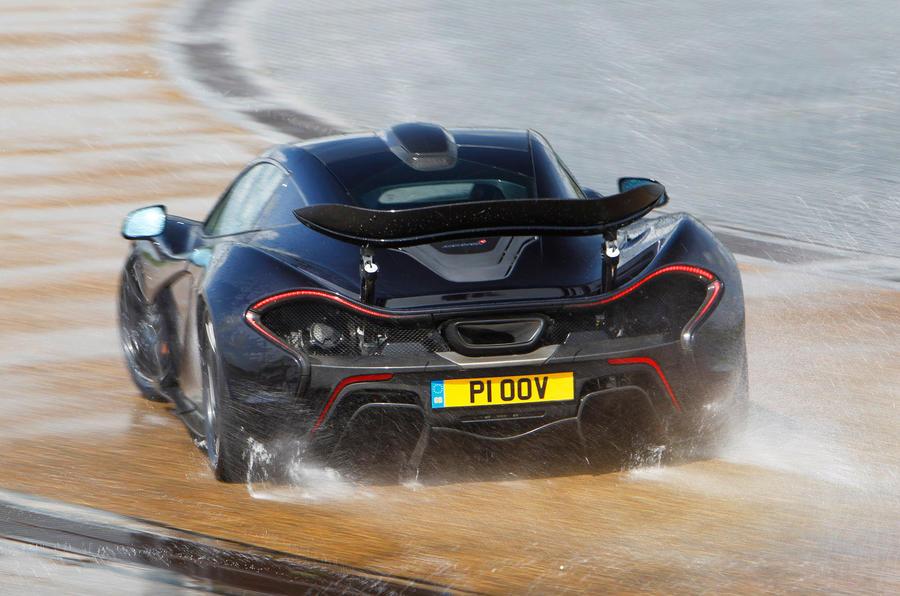 McLaren P1 hard rear cornering
