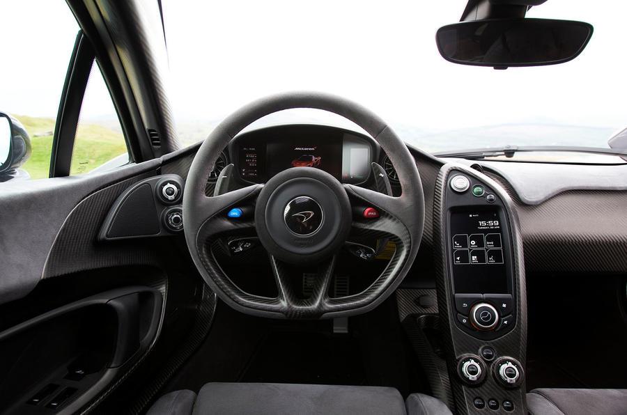 McLaren P1 steering wheel