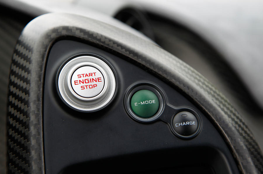 McLaren P1 ignition button