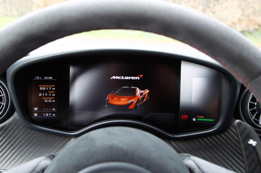McLaren P1 digital instrument cluster