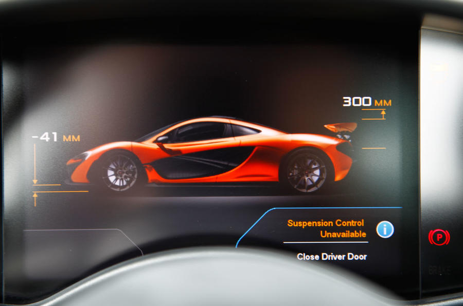 McLaren P1 information display
