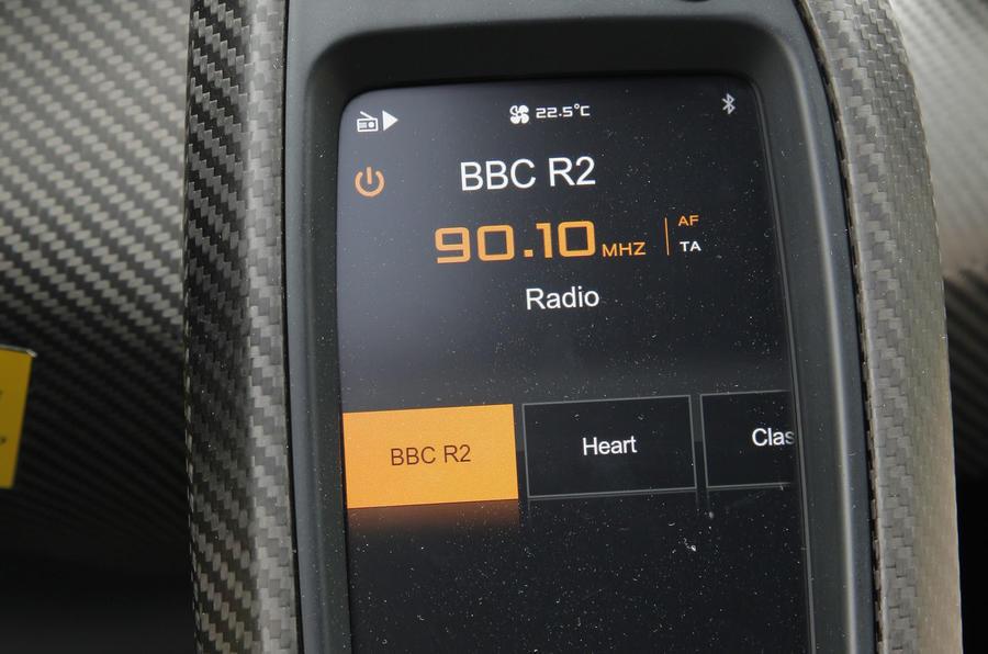 McLaren P1 infotainment controls