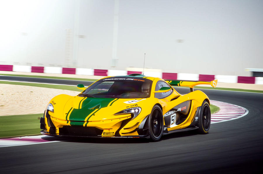 McLaren P1 GTR cornering