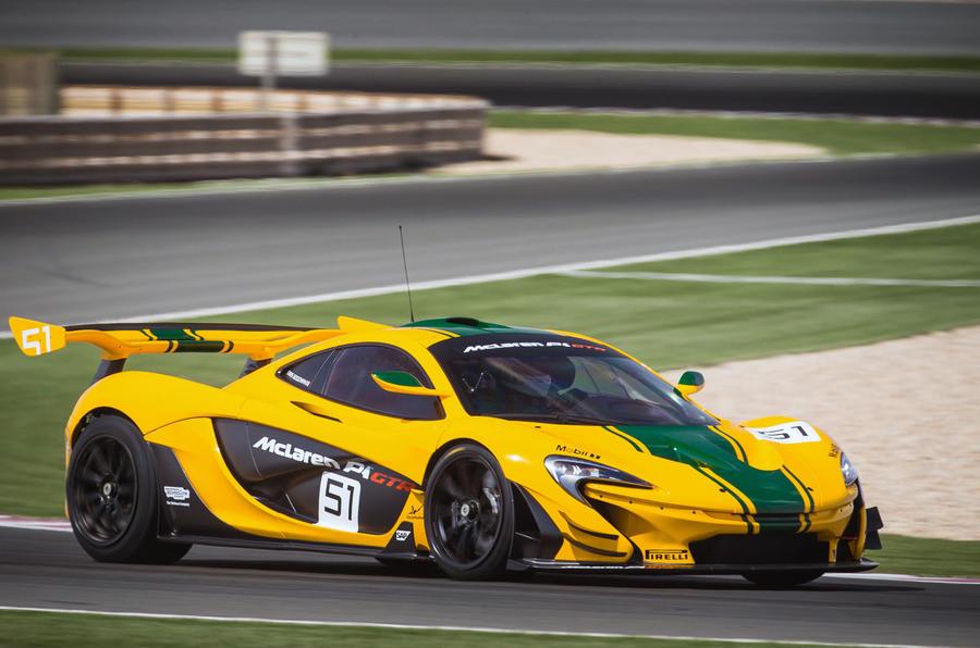 McLaren P1 GTR hard cornering