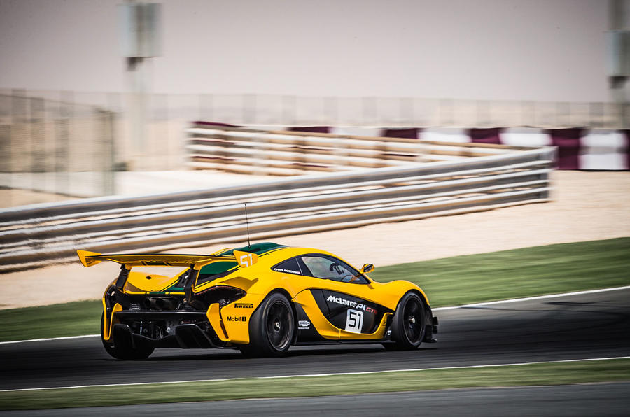 McLaren P1 GTR hard rear cornering