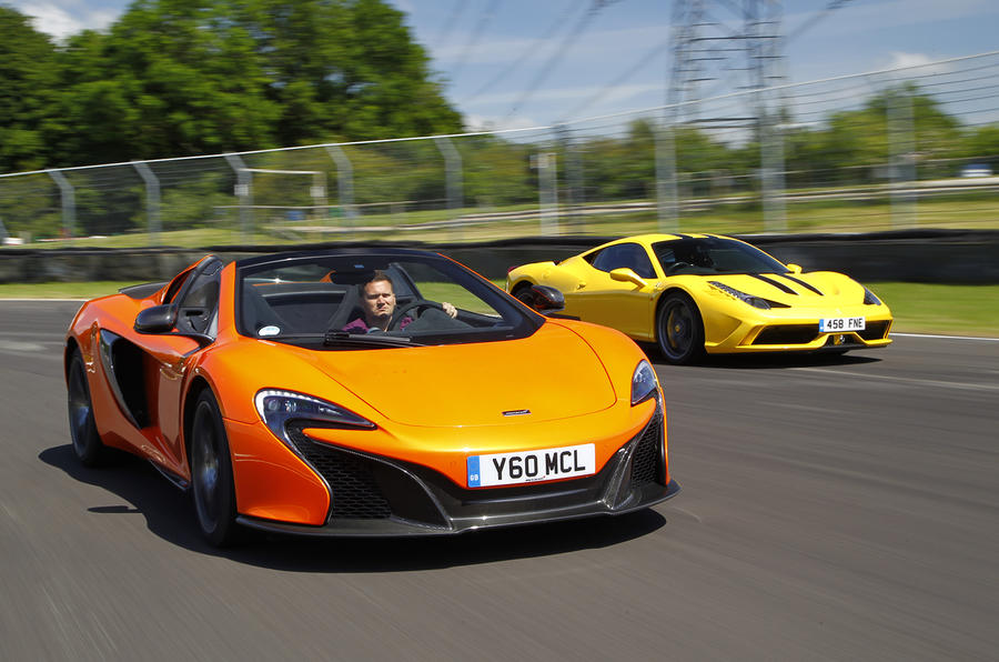 Which is quicker, Ferrari 458 Speciale or McLaren 650S?