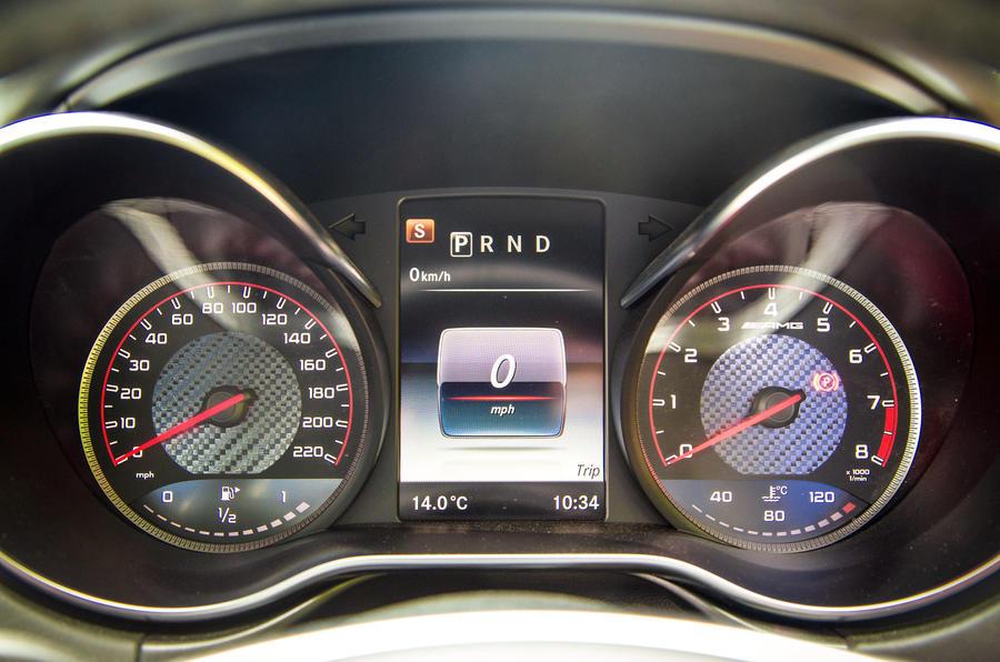 Mercedes-AMG GT instrument cluster