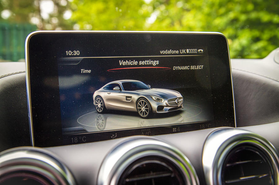 Mercedes-AMG GT infotainment system