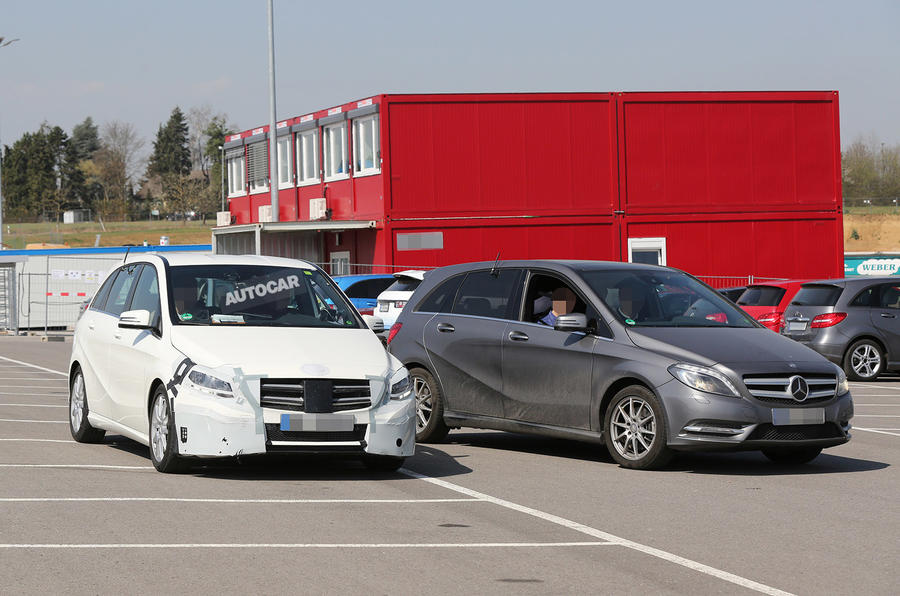 New Mercedes B-class facelift spotted ahead of October debut