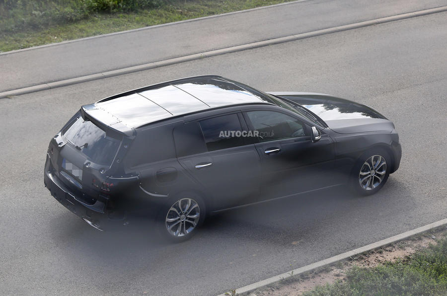 New Mercedes C-class saloon and estate spotted