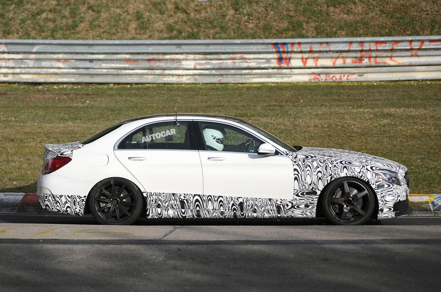 Mercedes C63 AMG saloon nears 2015 launch