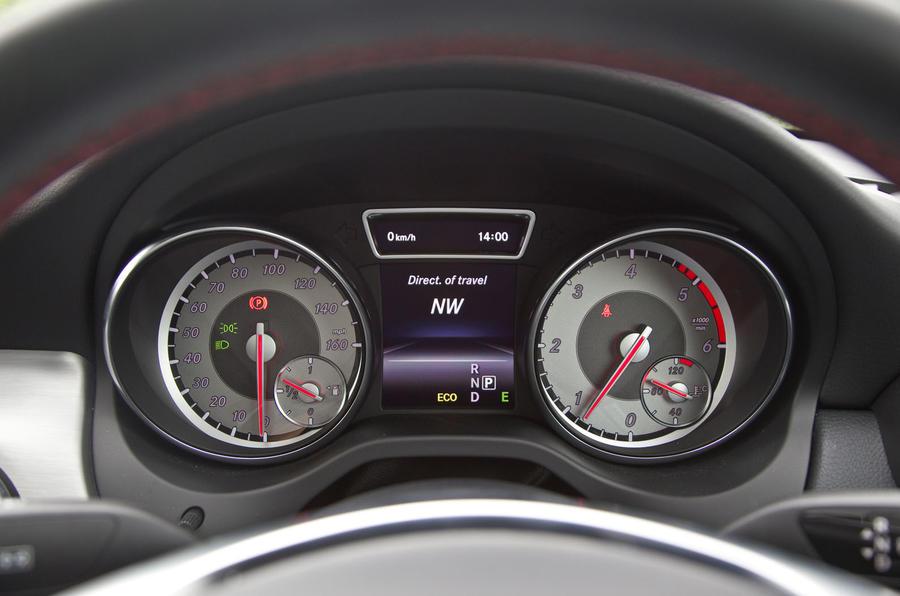 Mercedes-Benz CLA instrument cluster