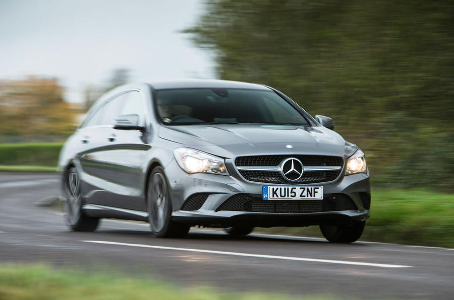 The 18in wheels transmits bumps into the Mercedes-Benz CLA Shooting Brake's cabin