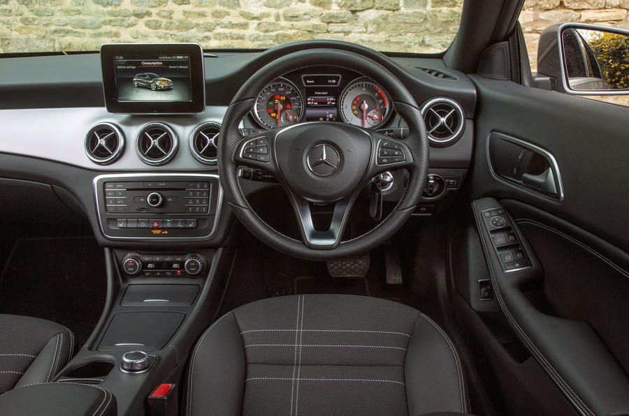 A view from the driver's seat in the CLA Shooting Brake