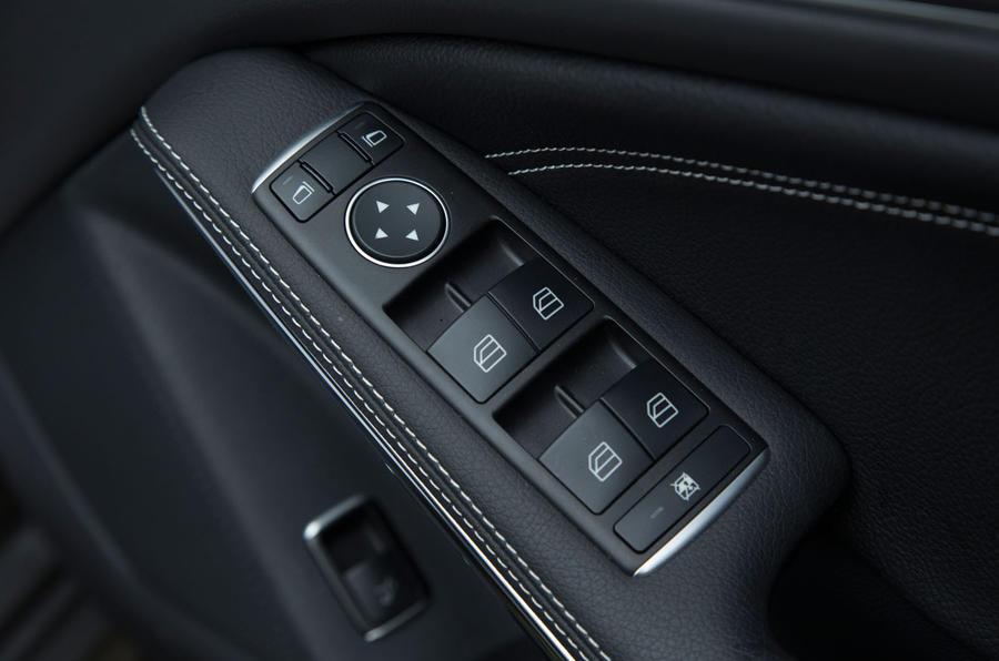 The driver's door control panel in the CLA Shooting Brake