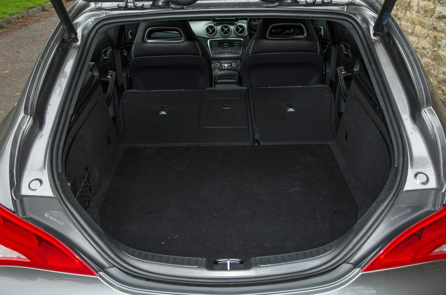 The flexibility of the Mercedes-Benz CLA Shooting Brake's rear seats