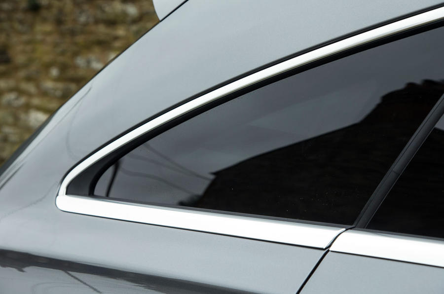 The rear quarter window and D-pillar give the CLA Shooting Brake some definitive muscle