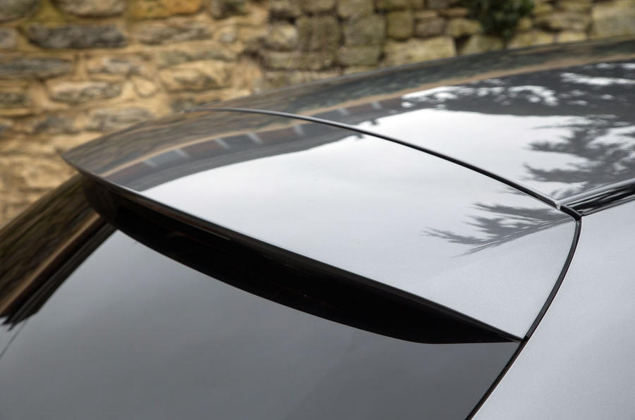 The rear spoiler completes the elongated contour of the Mercedes-Benz CLA Shooting Brake