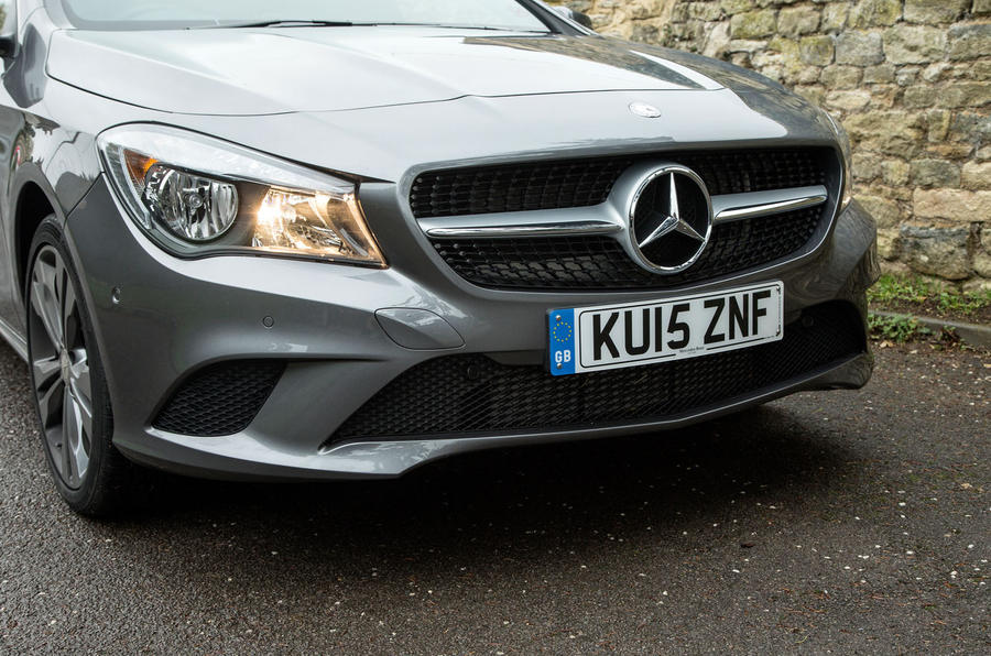 The Sport trim Mercedes-Benz CLA Shooting Brake comes with halogen lights
