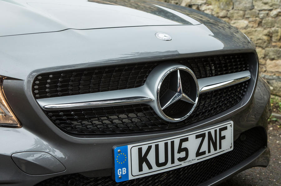 The single louvre grille is the most recognisable part of the Mercedes-Benz CLA Shooting Brake