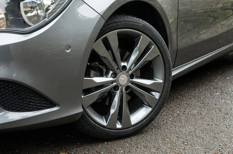 All the models of the CLA Shooting Brake get 18in alloys except the CLA45 AMG