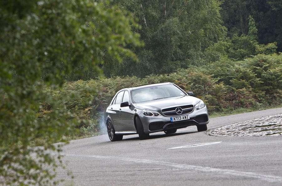 Mercedes-AMG E 63 hard cornering